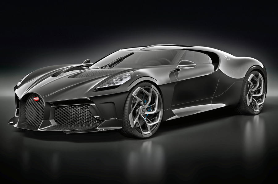 Bugatti La Voiture Noire official press photos - nose