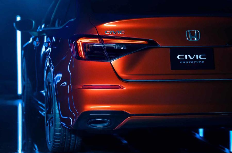 2022 Honda Civic prototype rear close