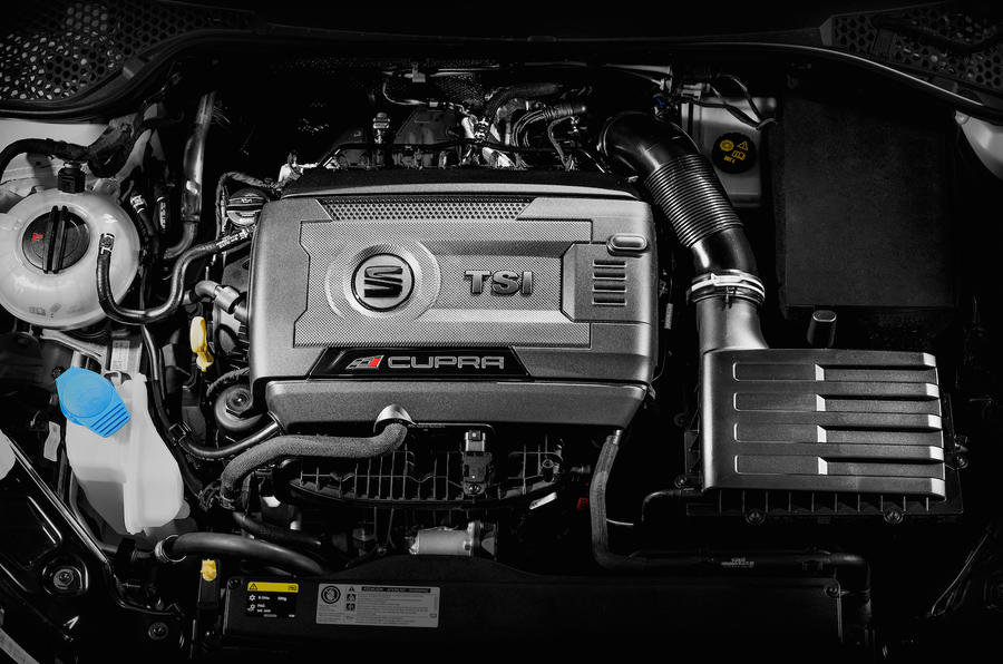 Turbocharged Seat Leon Cupra 290 engine