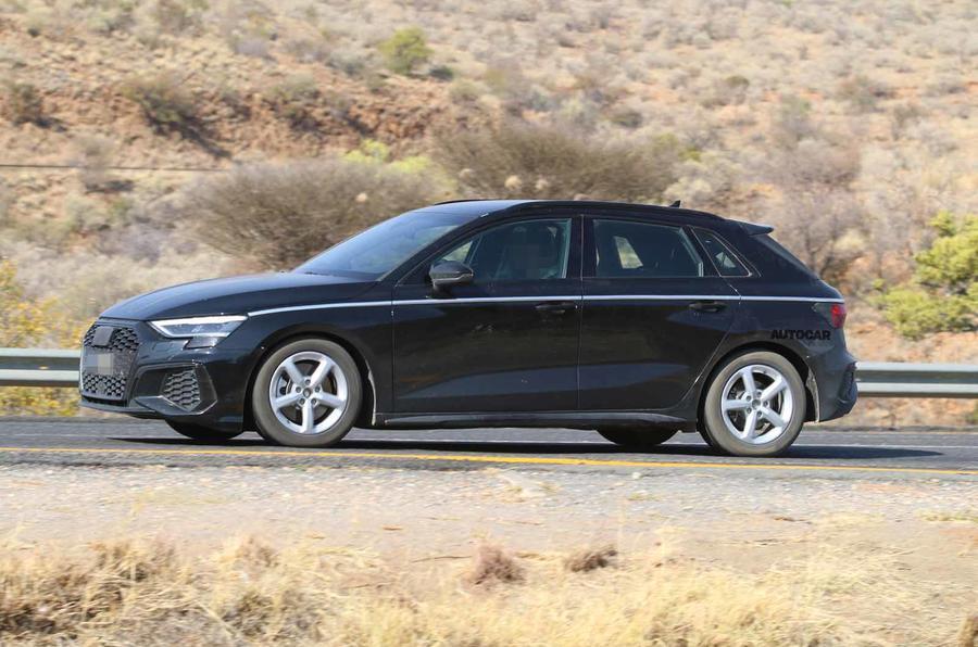 Audi A3 2020 spyshots undisguised