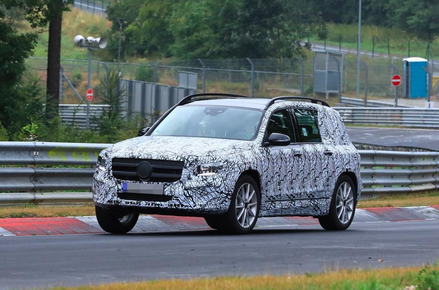 Mercedes GLB Nurburgring spies side front