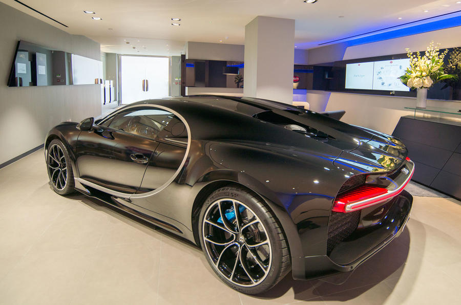 Bugatti Chiron at H.R. Owen London showroom