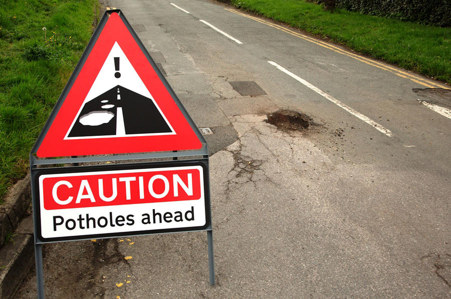 Pothole warning
