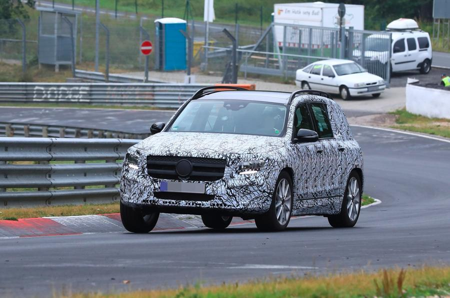 Mercedes GLB Nurburgring spies front side
