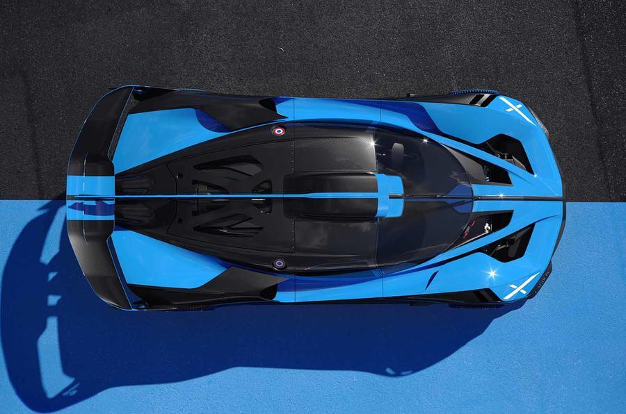 Bugatti Bolide from above