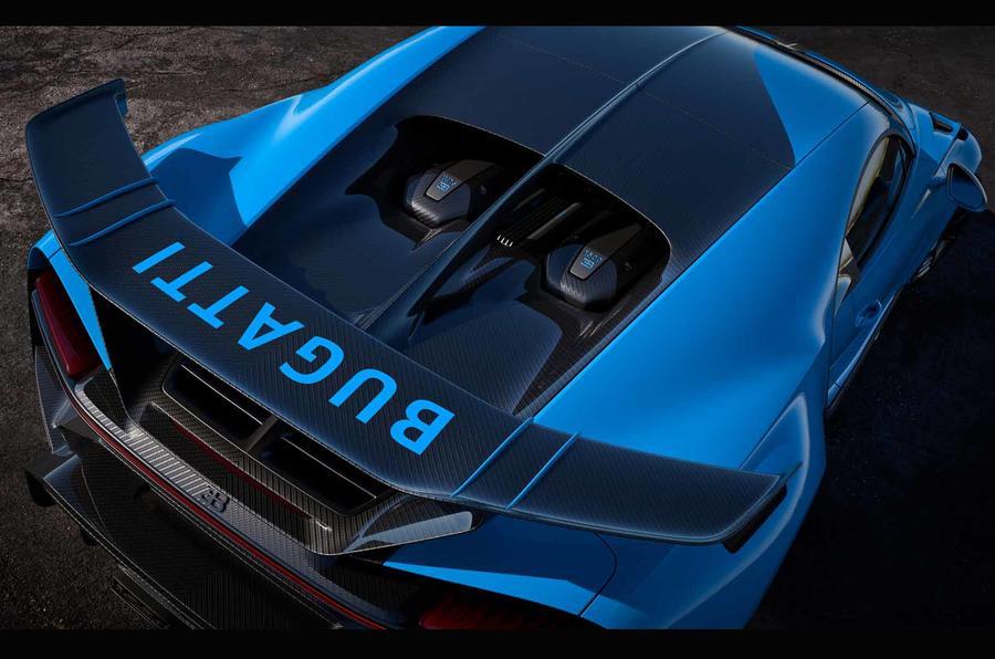 Bugatti Chiron Pur Sport spoiler