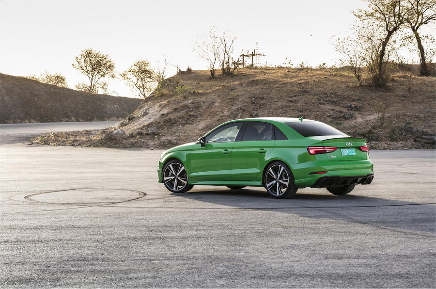Audi RS3 Saloon rear quarter