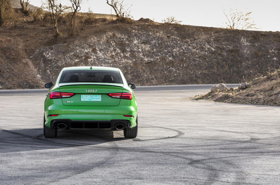 Audi RS3 Saloon rear end