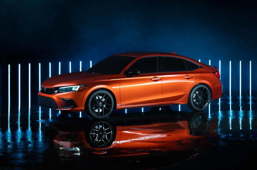 2022 Honda Civic prototype side front