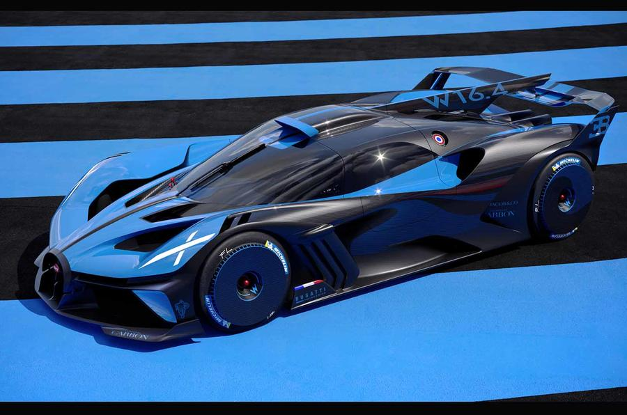 Bugatti Bolide side front