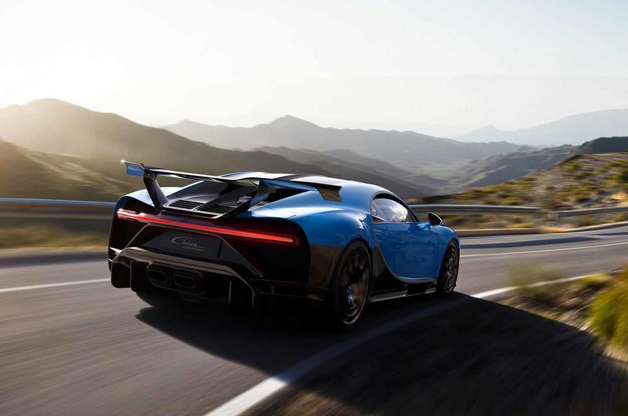 Bugatti Chiron Pur Sport rear moving