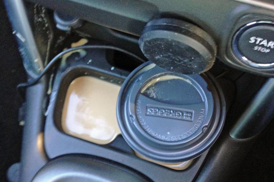 Citroen C3 Aircross long-term review - coffee spill
