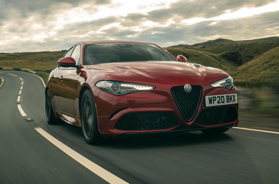 Alfa Romeo Giulia Quadrifoglio 2020 UK first drive review - hero front