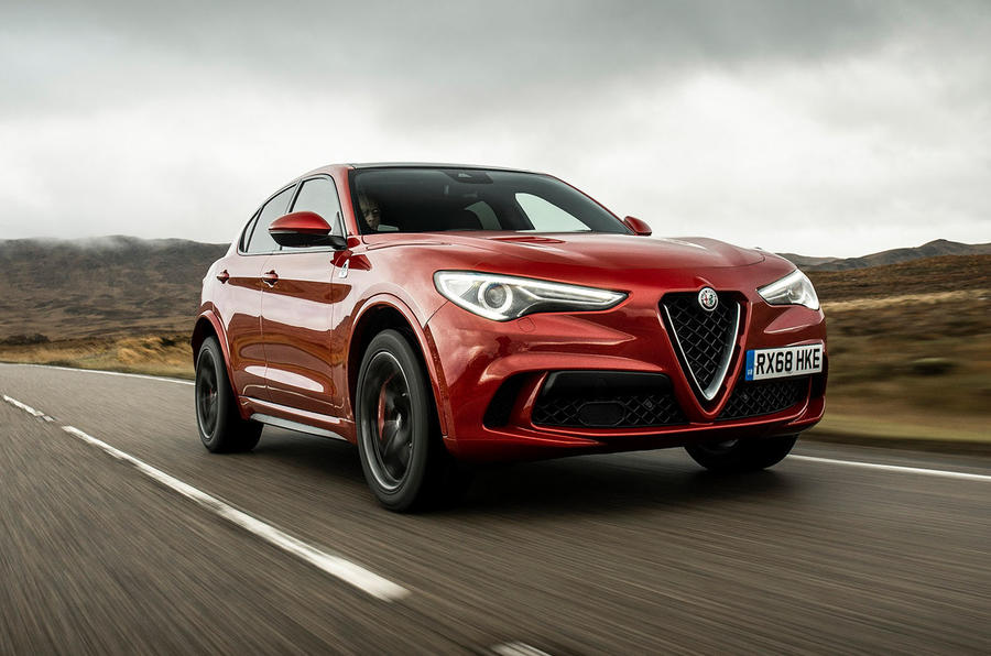 Alfa Romeo Stelvio Quadrifoglio 2018 UK RHD first drive - hero front