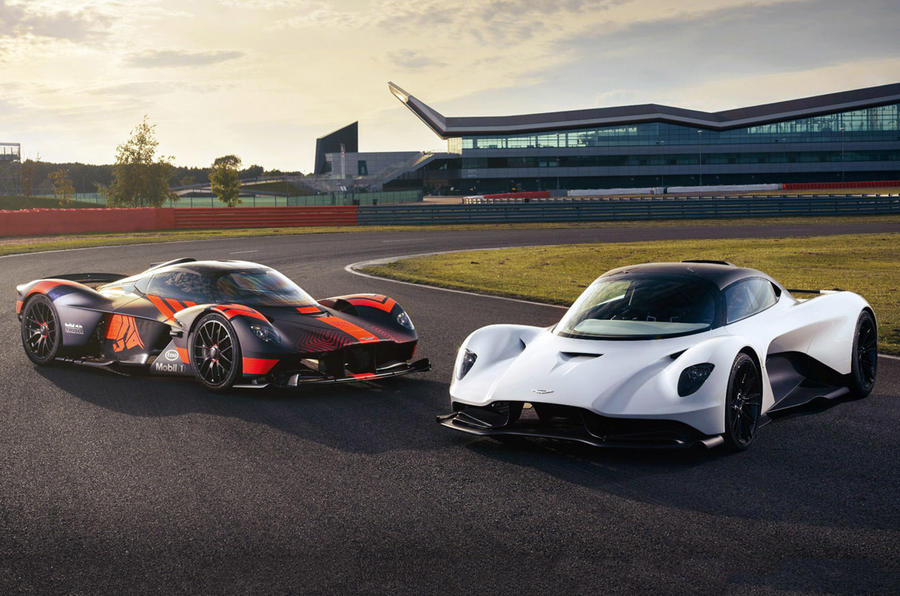 Aston Martin Valkyrie and Valhalla - static front