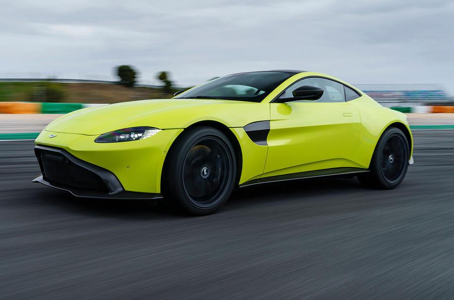 Aston Martin Vantage on the track front