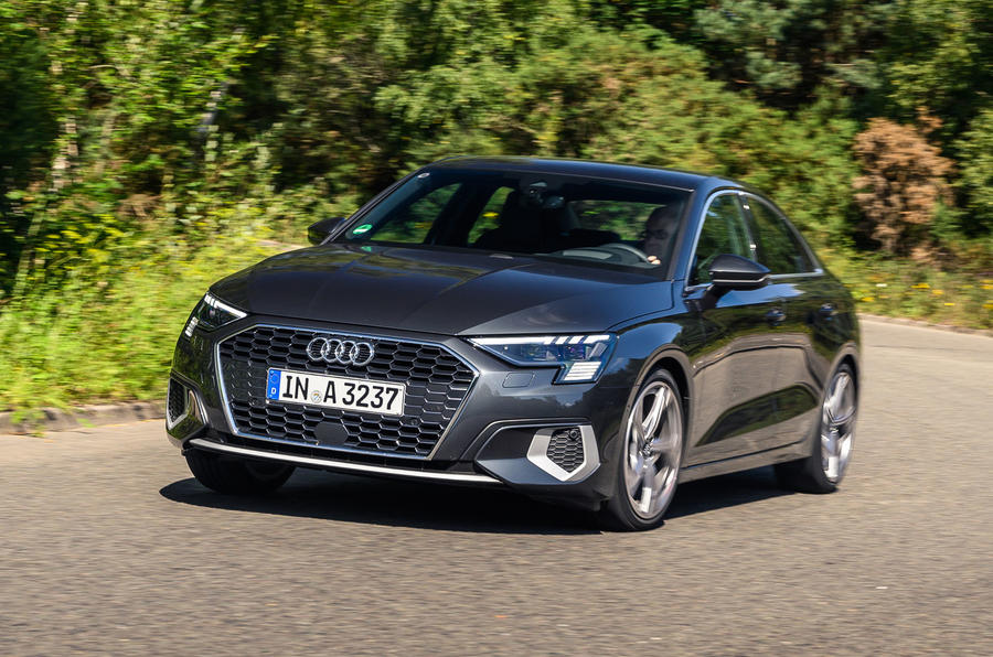 Audi A3 saloon 2020 UK first drive review - hero front