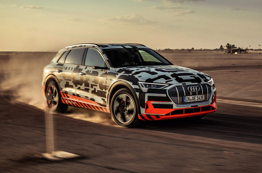 Audi e-Tron 2019 prototype first drive review - hero front