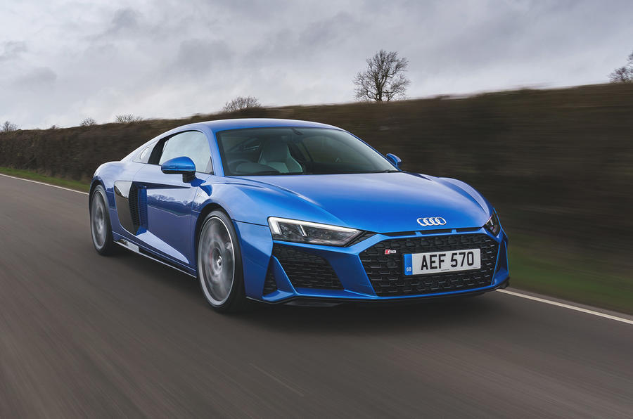Audi R8 2019 UK first drive review - tracking front