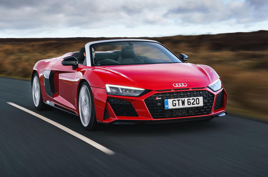 Audi R8 Spyder 2019 UK first drive review - hero front