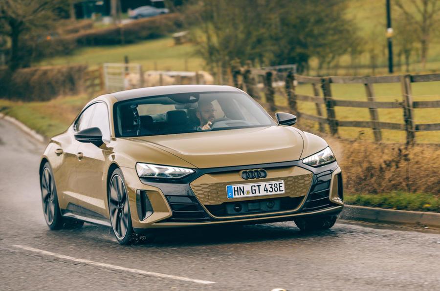 audi rs e-tron gt 2021 uk review | autocar
