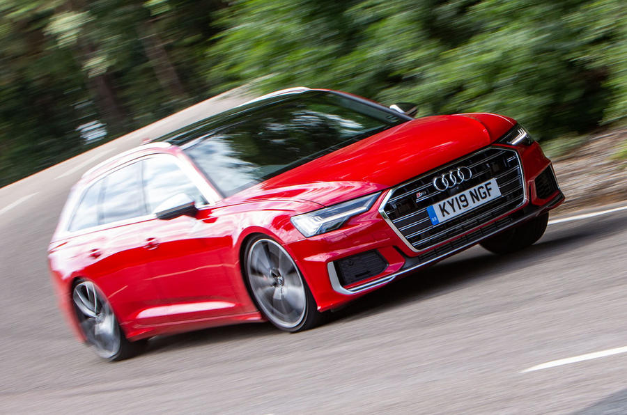 Audi S6 Avant TDI 2019 UK first drive review - hero front