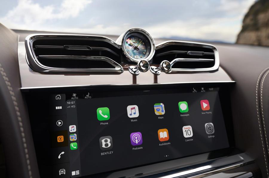 Bentley Bentayga facelift - infotainment