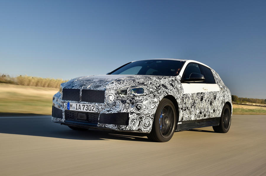 BMW 1 Series 2019 prototype drive - hero front