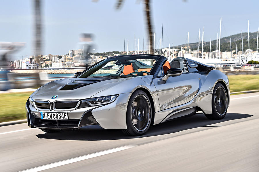 BMW i8 Roadster 2018 first drive review hero front
