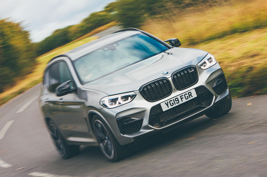 BMW X3 M Competition 2019 UK first drive review - hero front