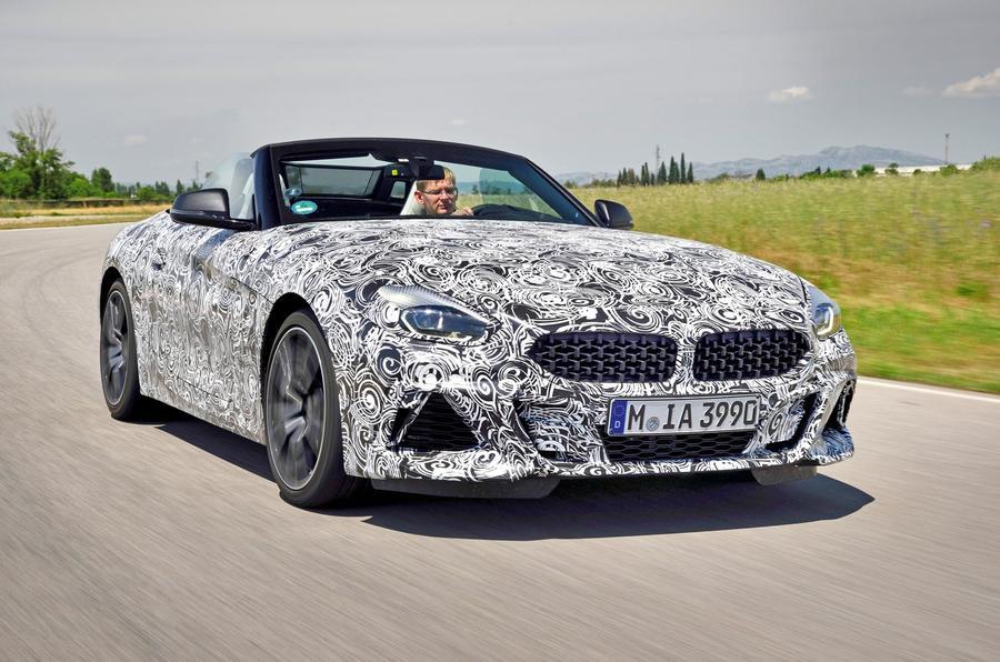 BMW Z4 prototype drive 2018 hero front