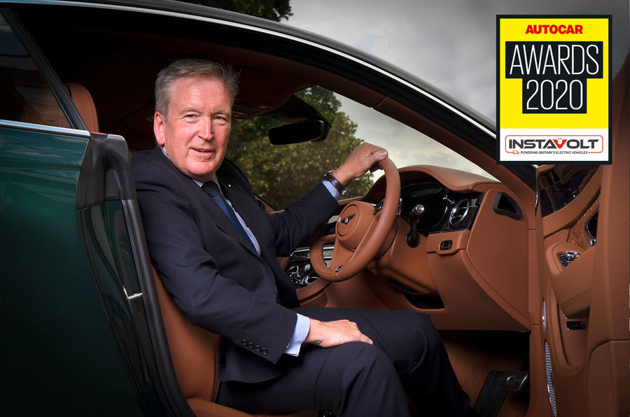 Autocar Awards 2020 Editor's Award Adrian Hallmark