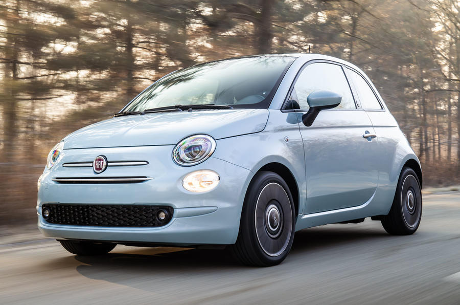Fiat 500 hybrid launch edition - front
