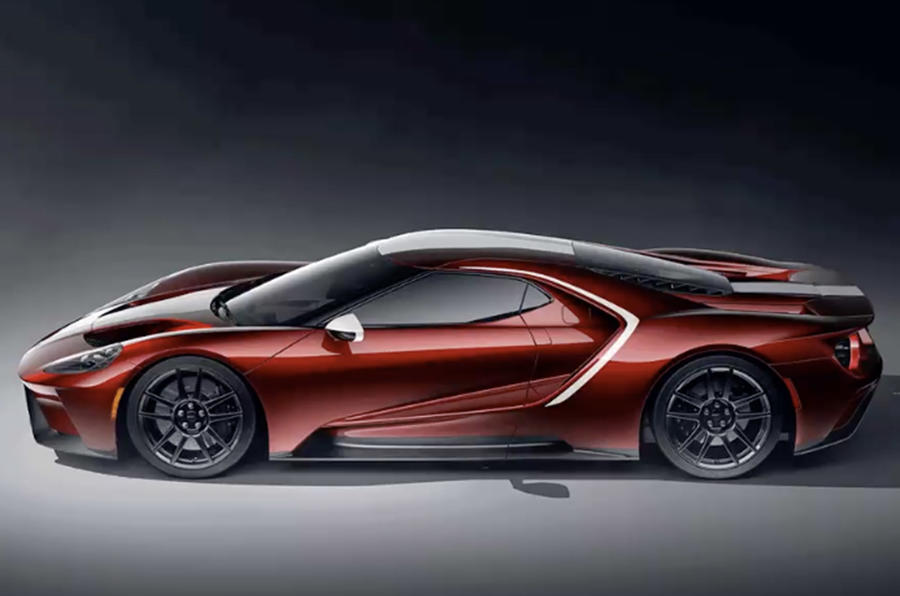Ford GT 2021 - new colour scheme - red