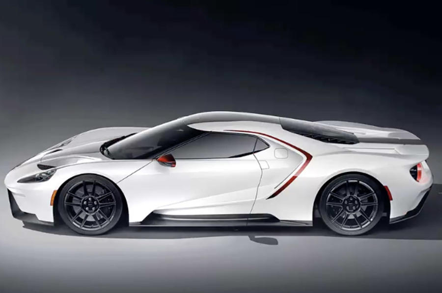 Ford GT 2021 - new colour scheme - white