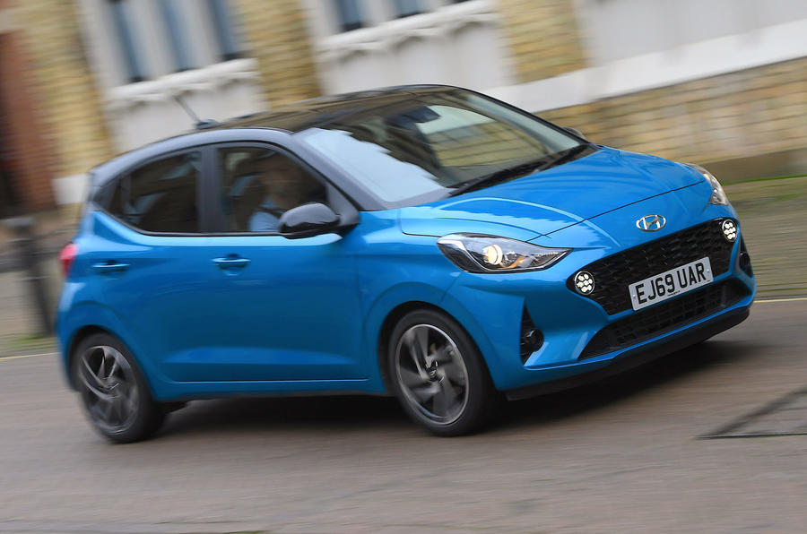 Hyundai i10 2020 UK first drive review - hero front