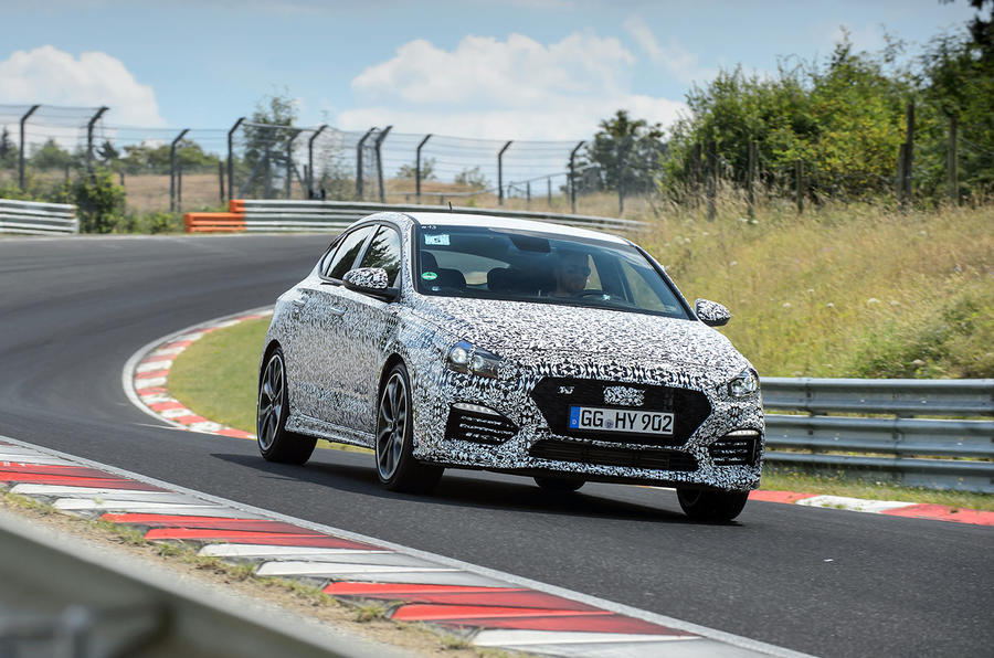 Hyundai i30 Fastback prototype official photo Nurburgring 1