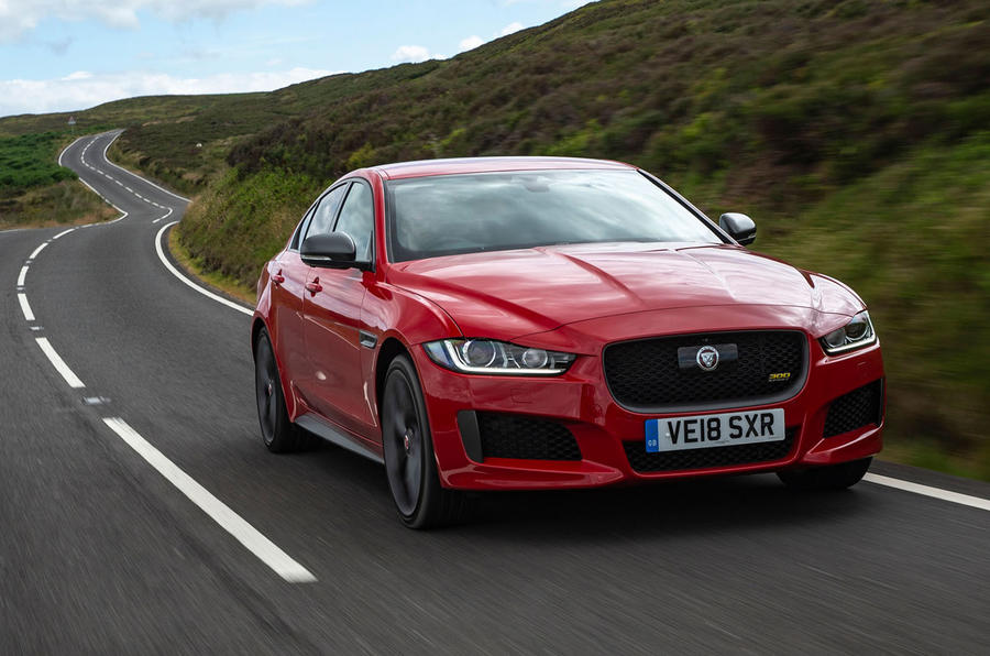 Jaguar XE 300 Sport 2018 UK first drive review hero front