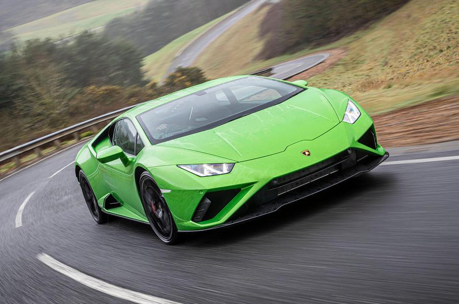Lamborghini Huracan EVO RWD 2020 UK first drive review - hero front