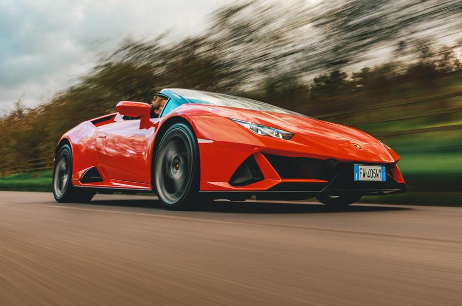 Lamborghini Huracán Spyder 2020 UK first drive review - hero front