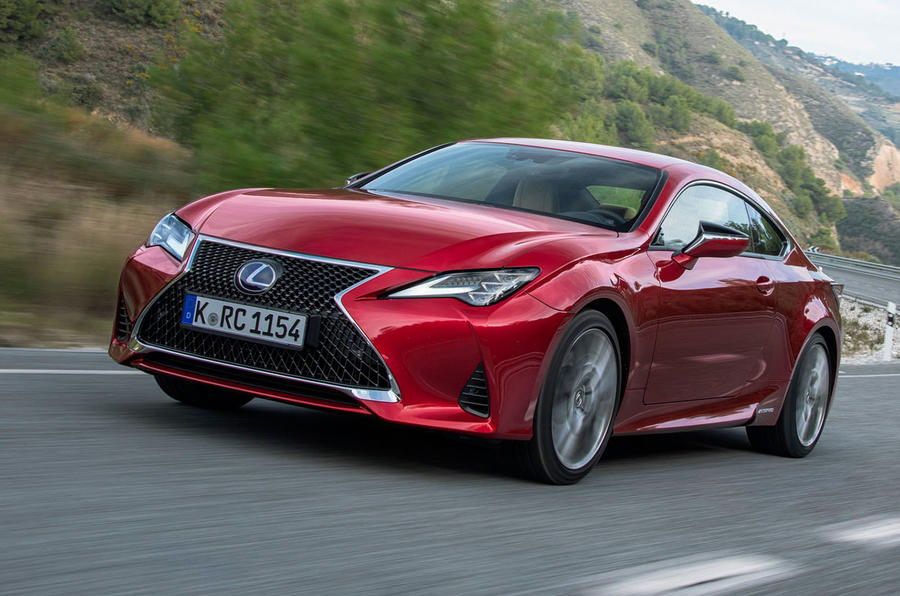 Lexus RC 300h 2019 first drive review - hero front