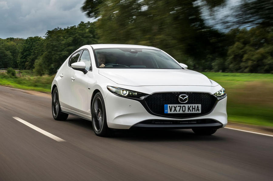 Mazda 3 100th Anniversary edition 2020 UK first drive review - hero front