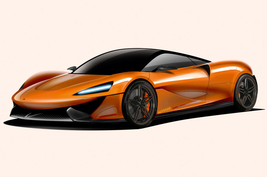 McLaren PHEV render - static front