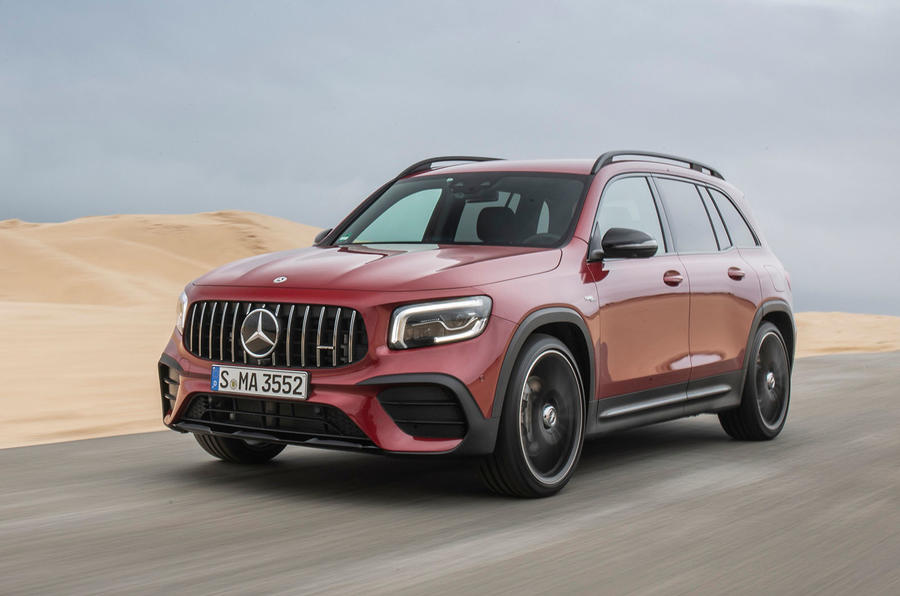 Mercedes-AMG GLB 35 2020 first drive review - hero front