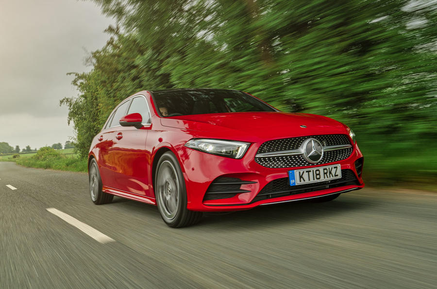 Mercedes-Benz A-Class A250 2018 UK review hero front