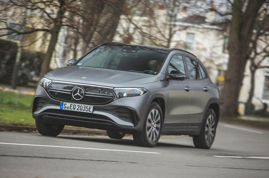 1 Mercedes Benz EQA 2021 : le premier héros de l'examen de conduite au Royaume-Uni