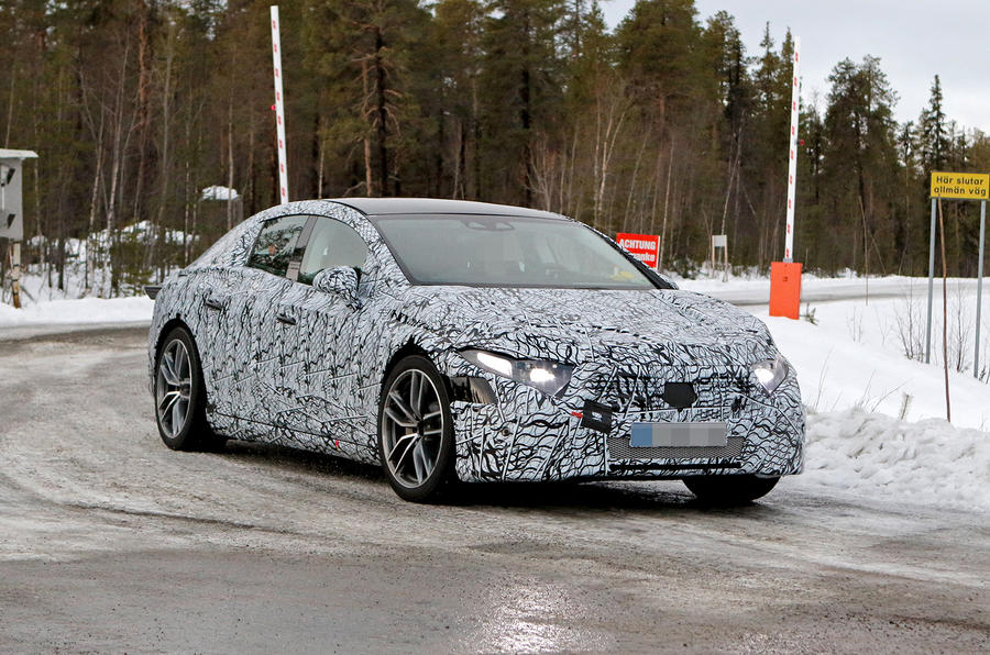 Mercedes-Benz EQS spyshot