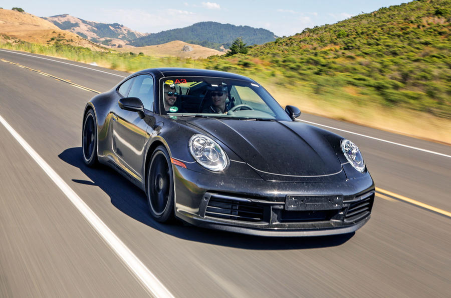 2019 Porsche 911 prototype first ride - hero front
