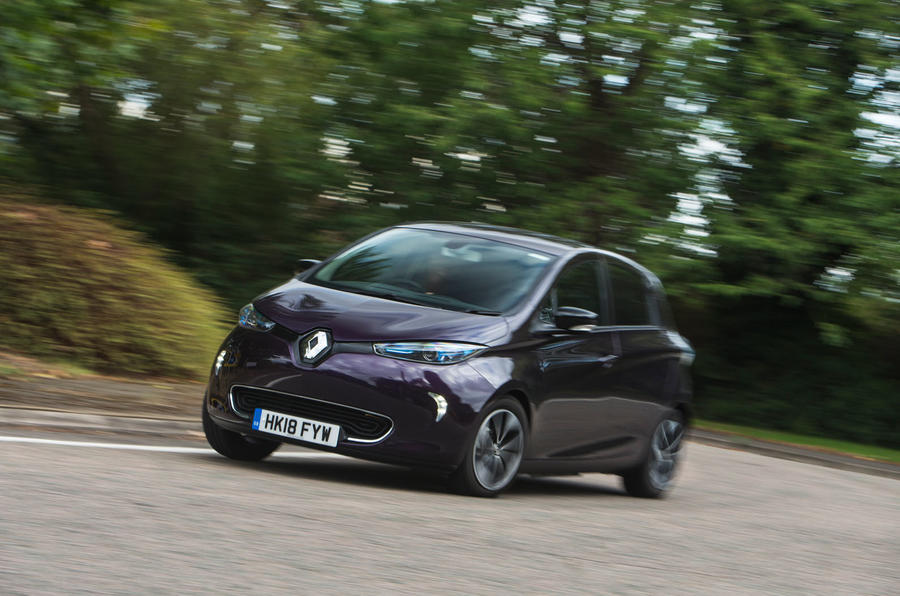 Renault Zoe R110 2018 UK first drive review hero front