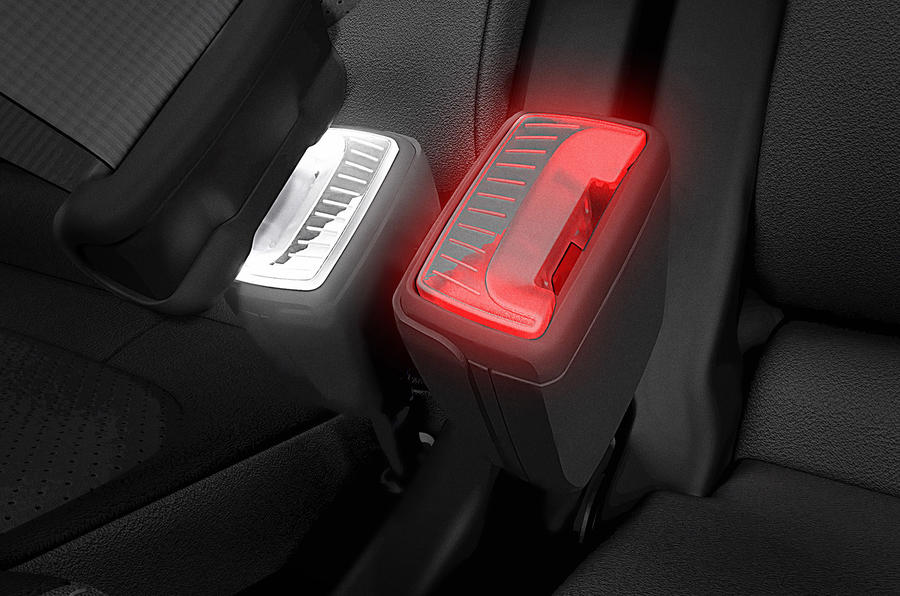 Skoda LED belt buckle